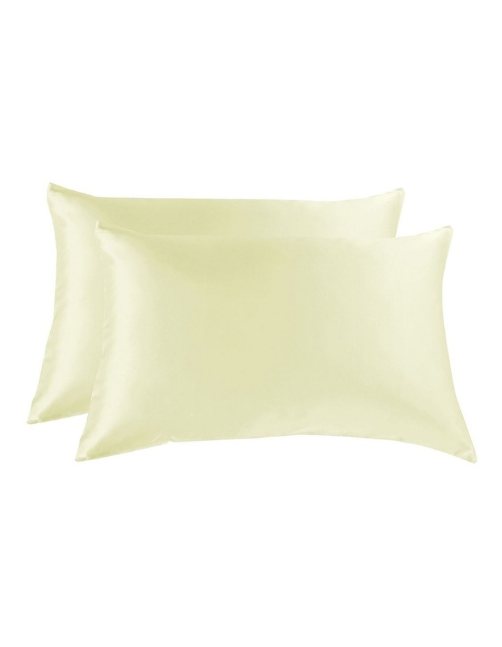 Royal Comfort Mulberry Silk Pillowcase Twin Pack - Ivory image 1