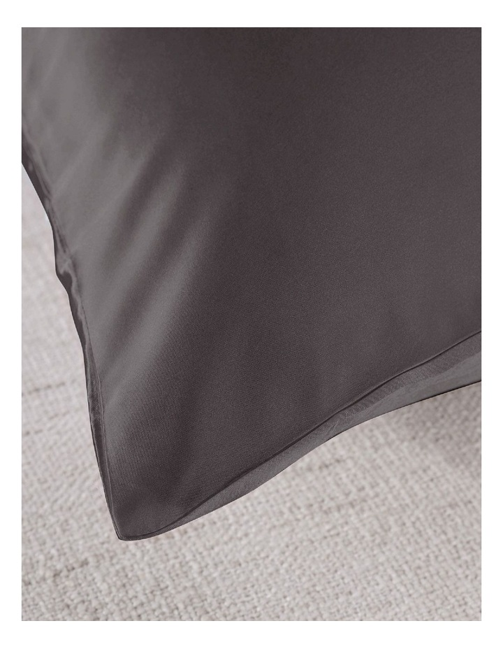 Royal Comfort Mulberry Silk Pillowcase Twin Pack - Charcoal image 4