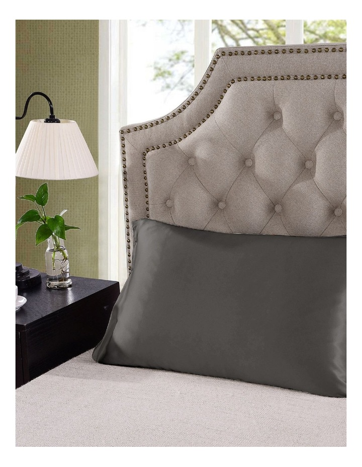 Royal Comfort Mulberry Silk Pillowcase Twin Pack - Charcoal image 6