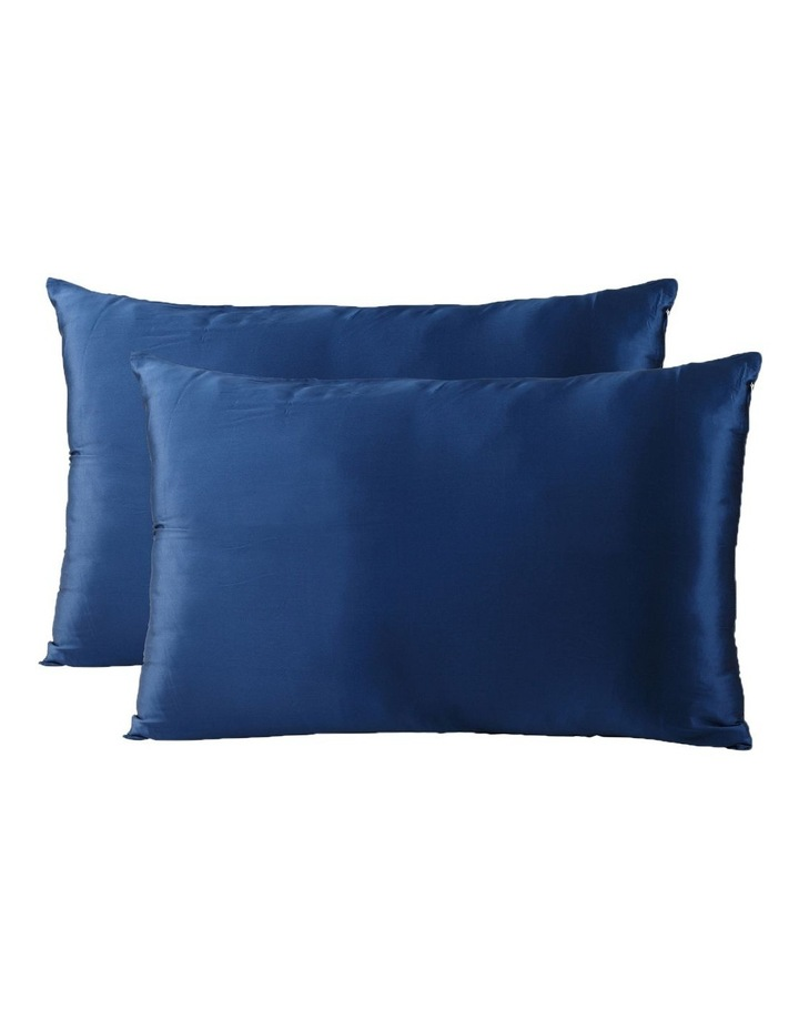 Royal Comfort Mulberry Silk Pillowcase Twin Pack - Navy image 1
