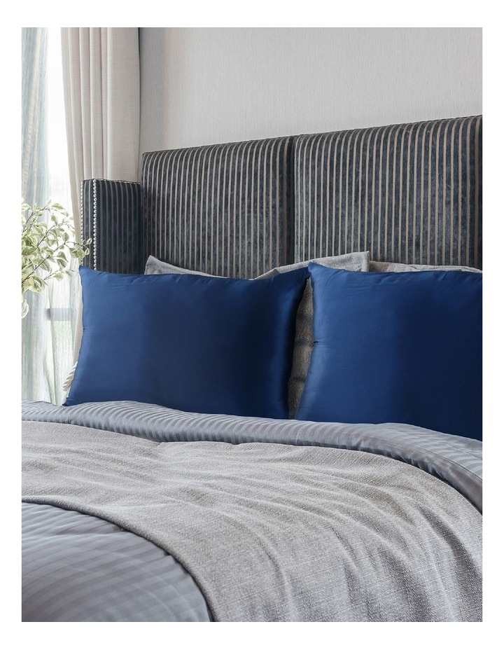 Royal Comfort Mulberry Silk Pillowcase Twin Pack - Navy image 4