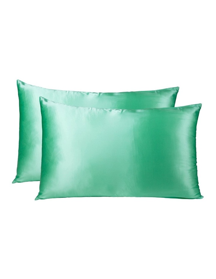 Royal Comfort Mulberry Silk Pillowcase Twin Pack - Mint image 1