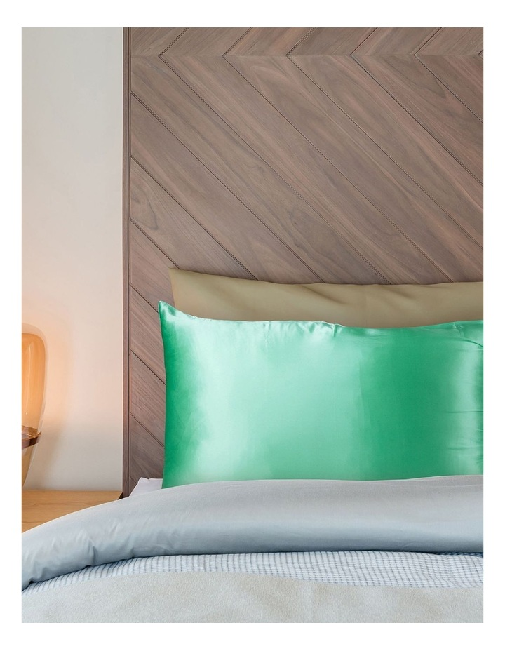 Royal Comfort Mulberry Silk Pillowcase Twin Pack - Mint image 3