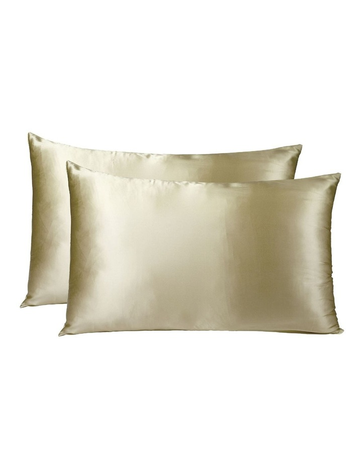 Royal Comfort Mulberry Silk Pillowcase Twin Pack - Champagne image 1
