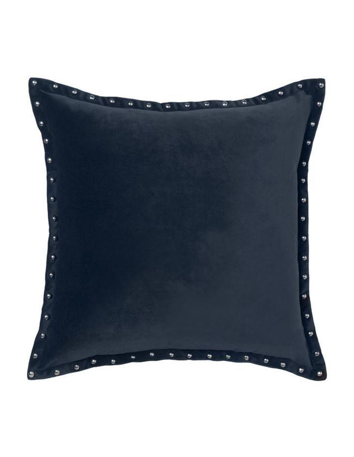 Harper Square Cushion in Navy image 1