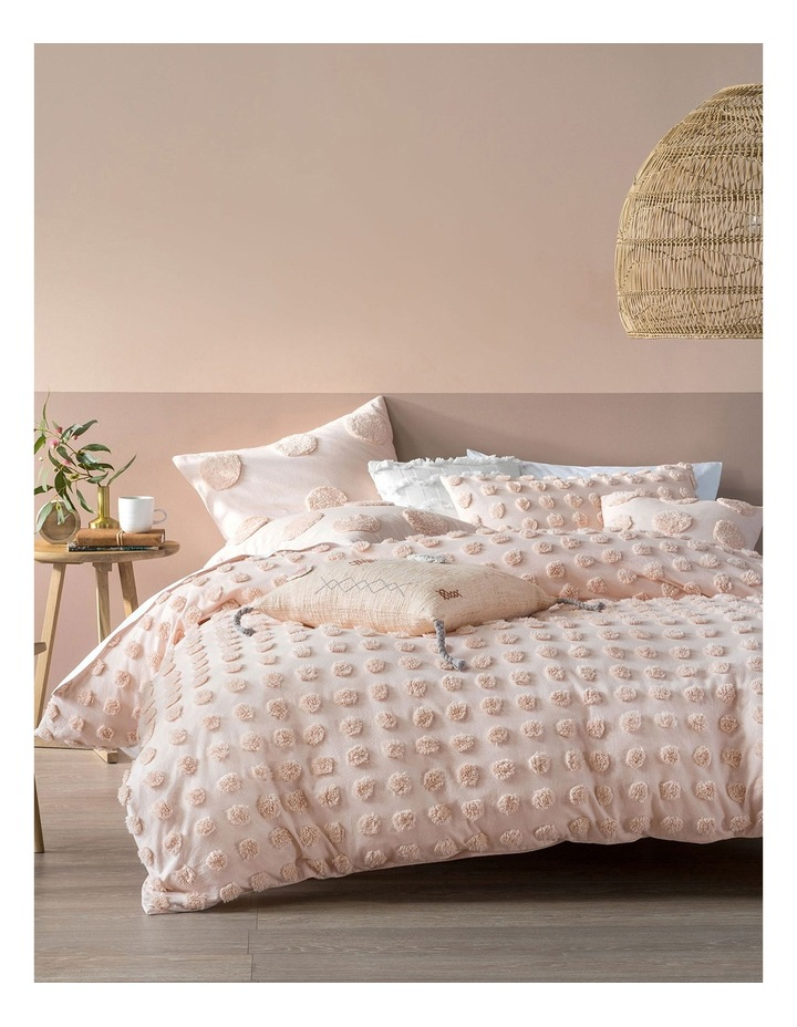 Haze Quilt Cover Set in Peach image 4