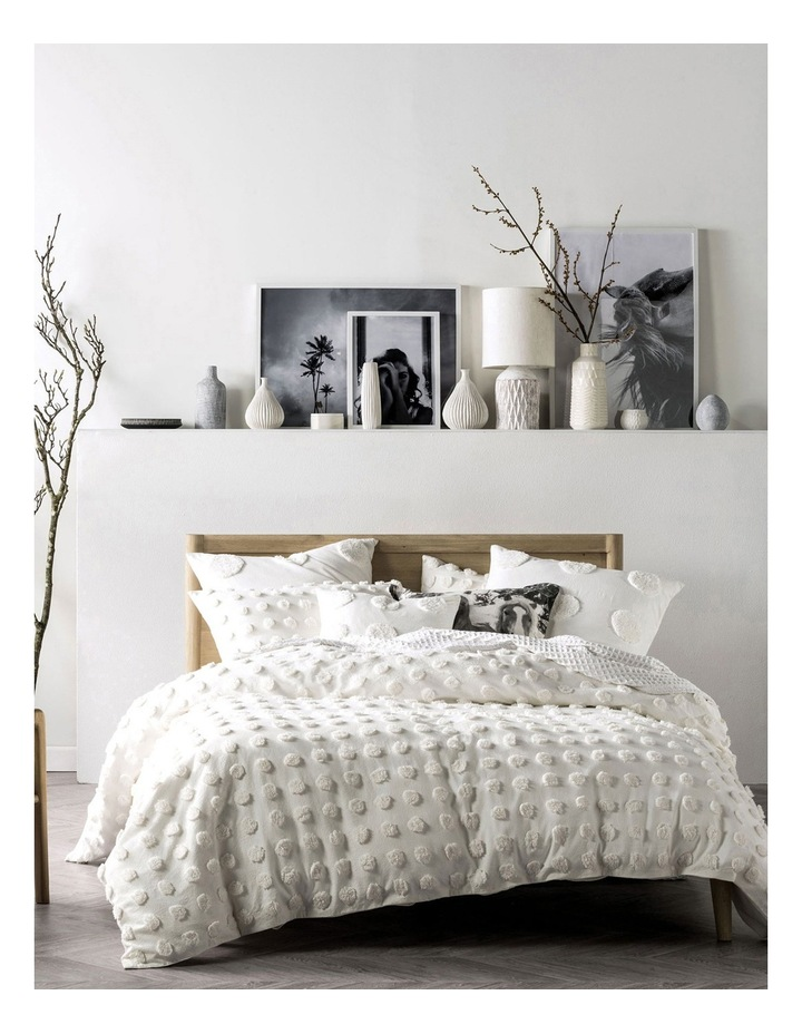 Haze Quilt Cover Set in White image 1