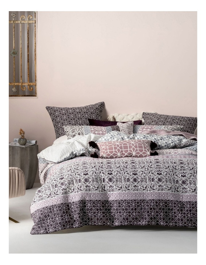 Linen House Quilt Cover Set in Wine image 1