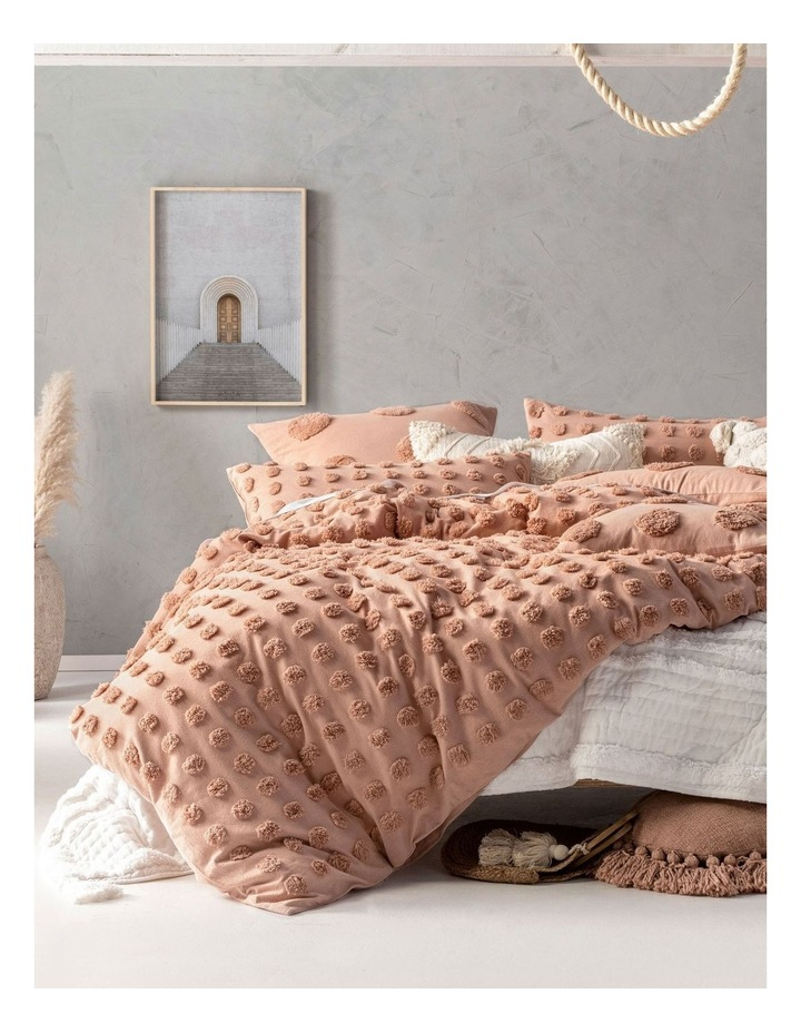 Haze Quilt Cover Set in Dusty Pink image 1