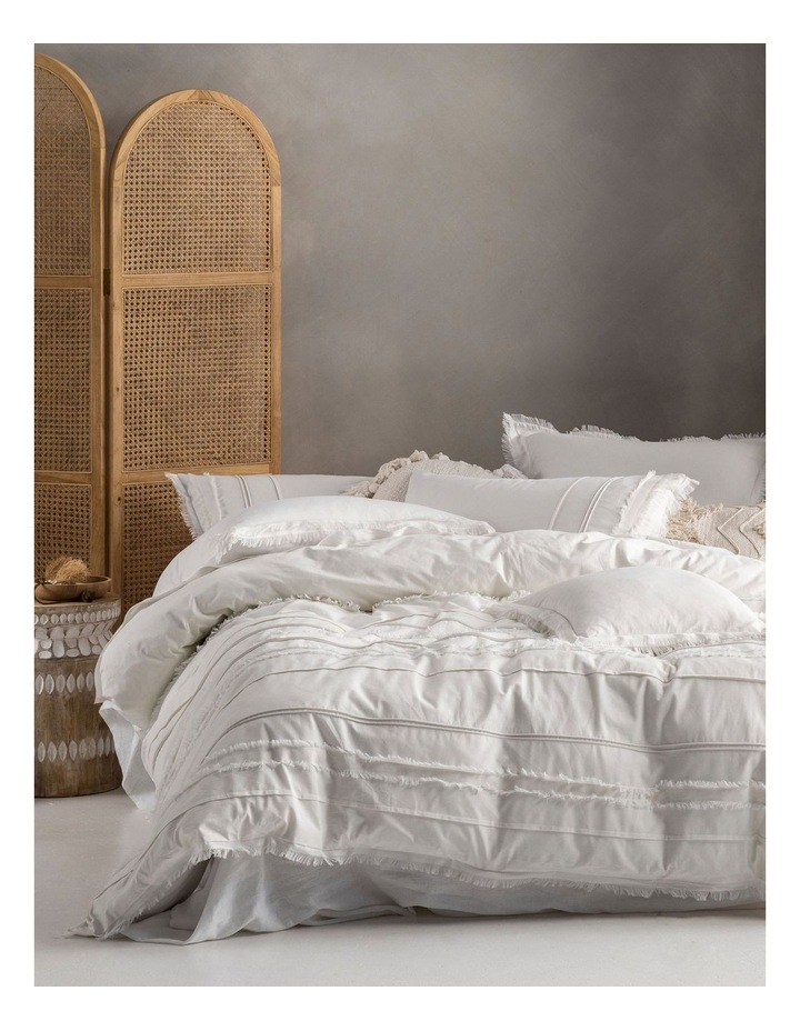 Iliana Quilt Cover Set in White image 1