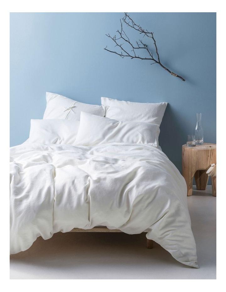 Nimes Quilt Cover Set White image 1
