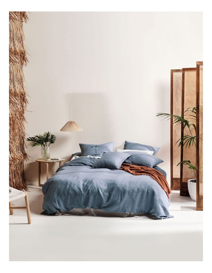 Nimes Linen Quilt Cover Set in Nightfall image 1