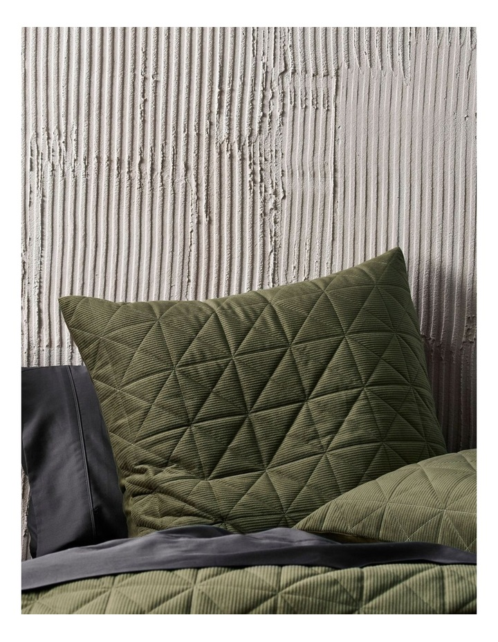 Heath Quilt Cover Set in Olive image 2