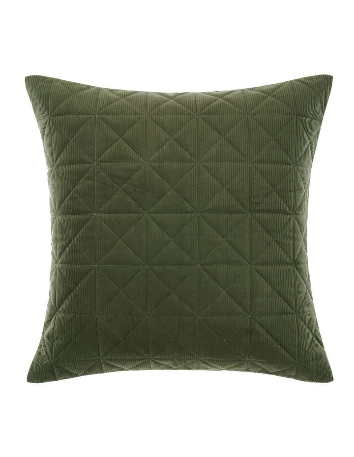 Heath Quilt Cover Set in Olive image 3