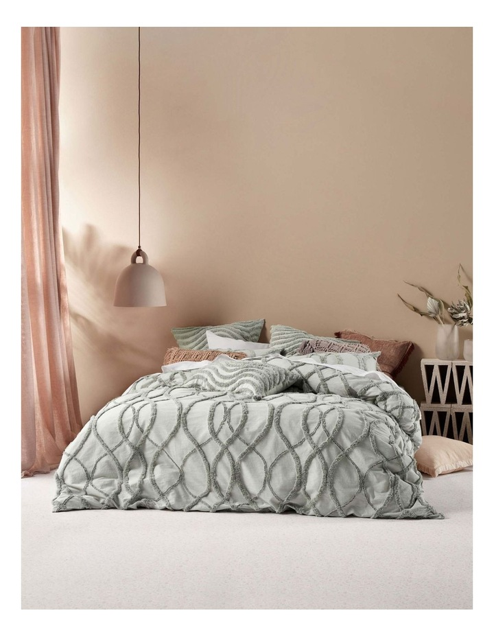 Amadora Quilt Cover Set in Smoke image 1