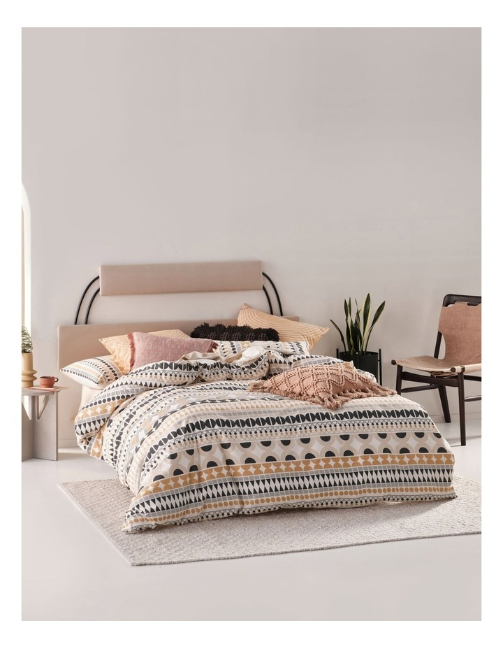 Penina Quilt Cover Set in Biscotti image 1