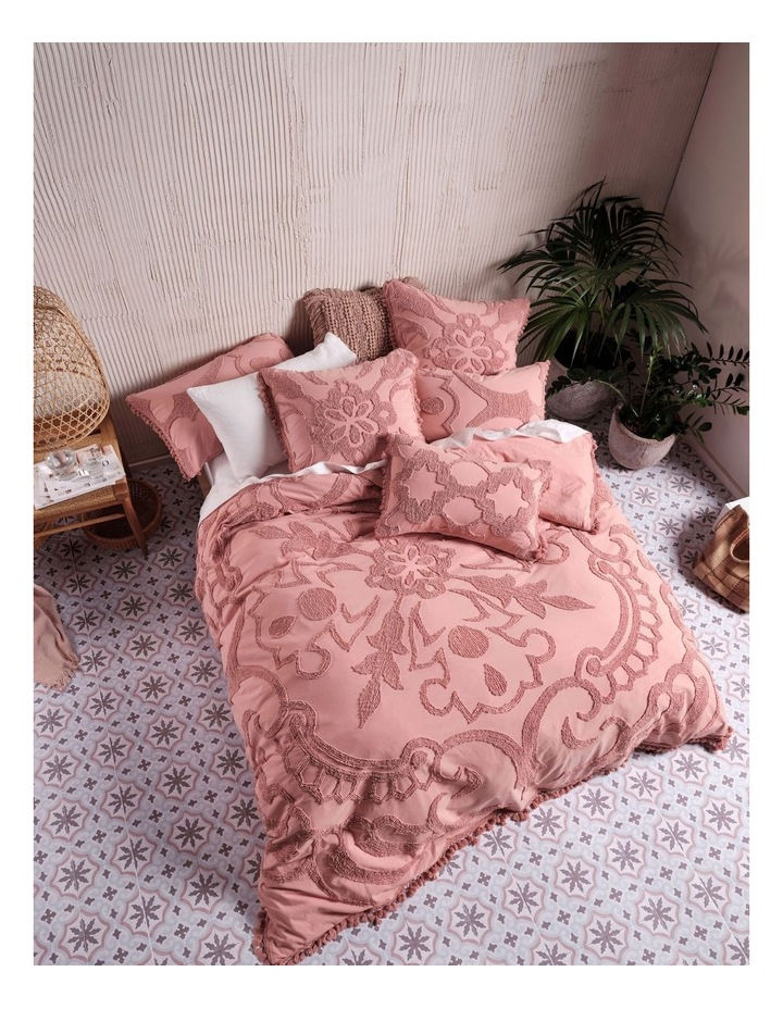 Rapallo Quilt Cover Set in Rose image 1