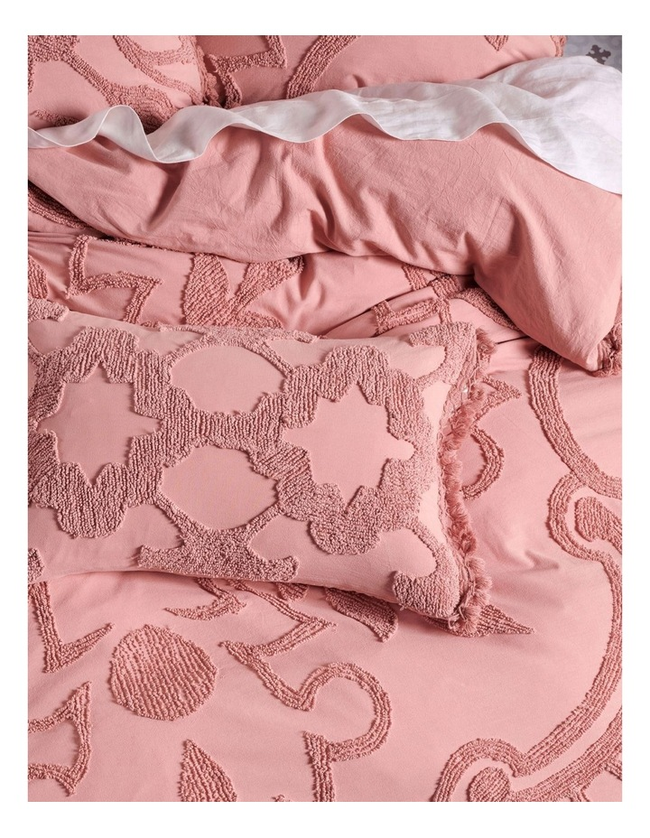 Rapallo Quilt Cover Set in Rose image 4