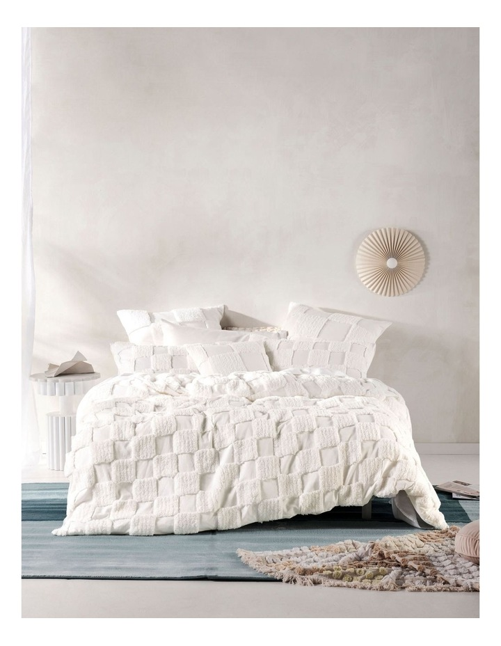Memphis Quilt Cover Set in White image 1