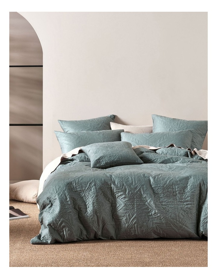 Isadora Quilt Cover Set in Petrol image 1