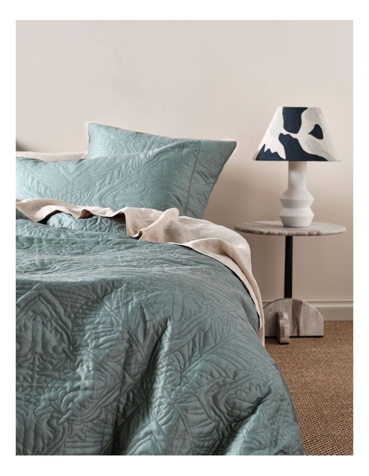 Isadora Quilt Cover Set in Petrol image 2