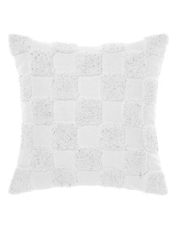 Linen House Ramad Cushion 48cm: White