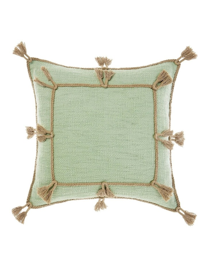 Hannah Square Cushion in Mint image 1