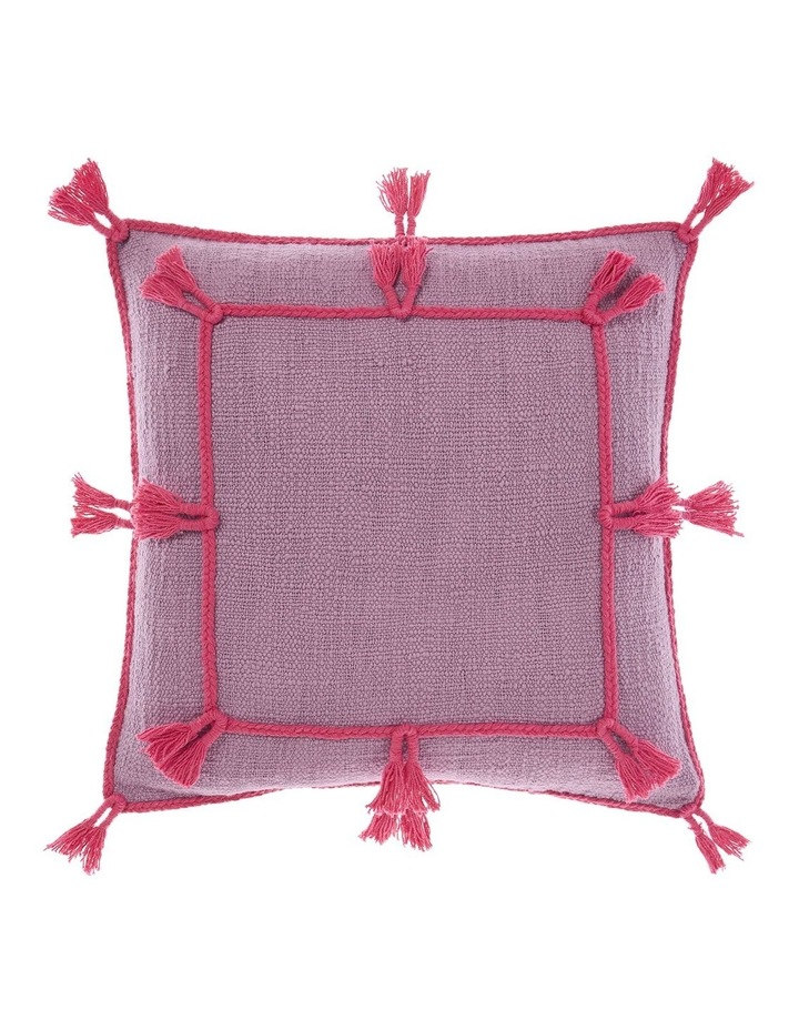Hannah Square Cushion in Orchid image 1