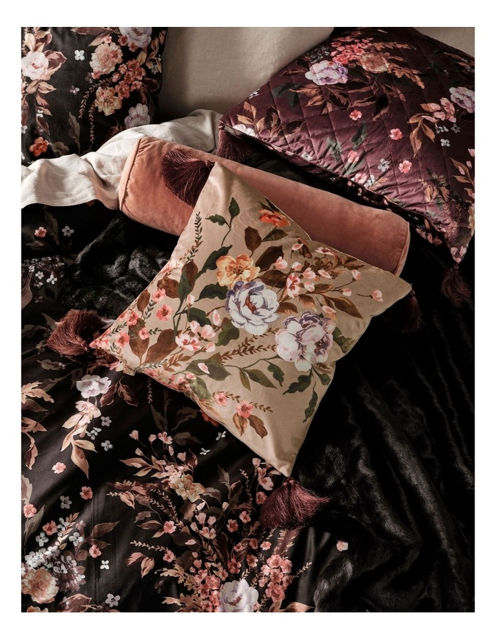 Cecilia Square Cushion with Tassels in Khaki image 2