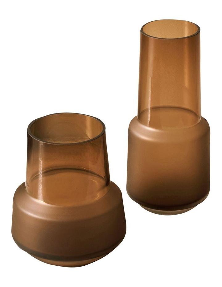Draper Vase 18cm In Amber image 2