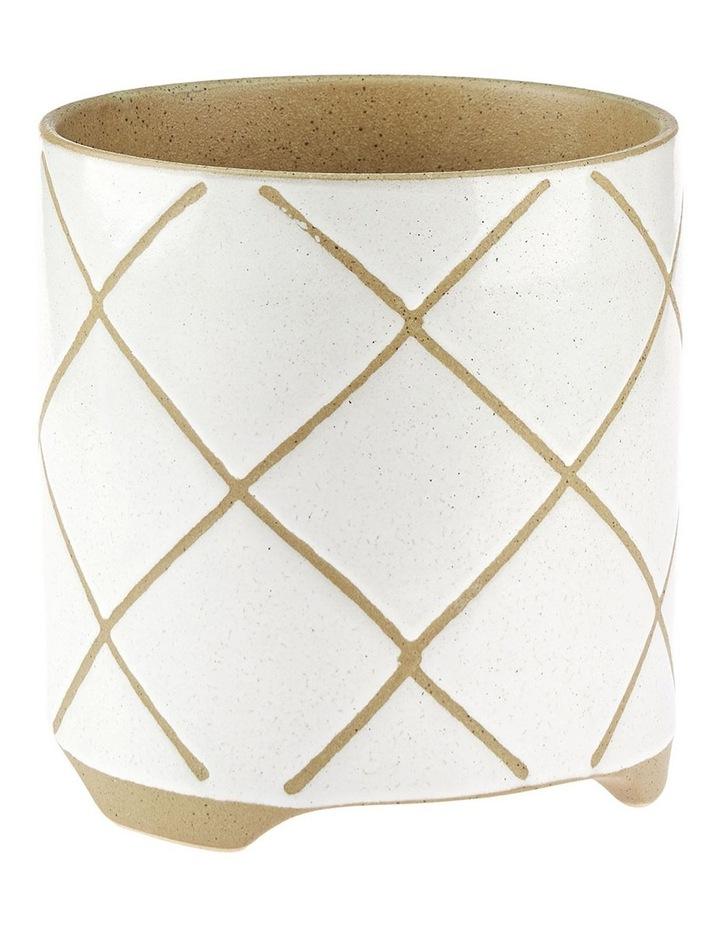Estrada Planter Pot 24cm In White image 1