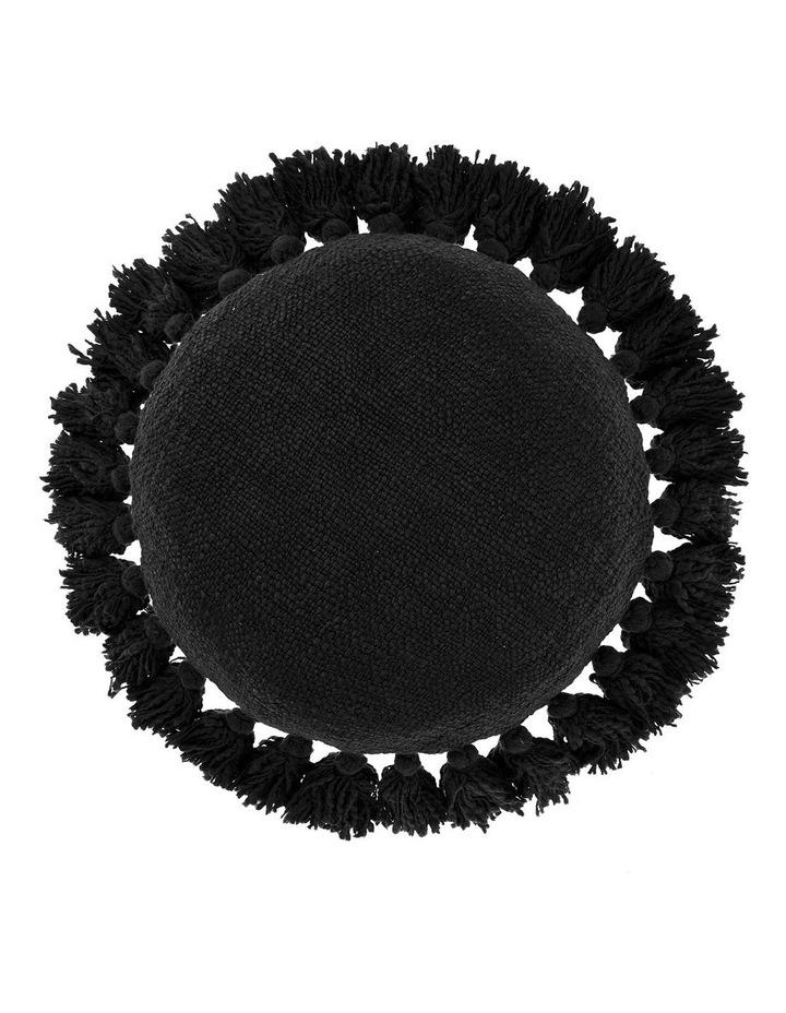 Florida Round Cushion in Black image 1