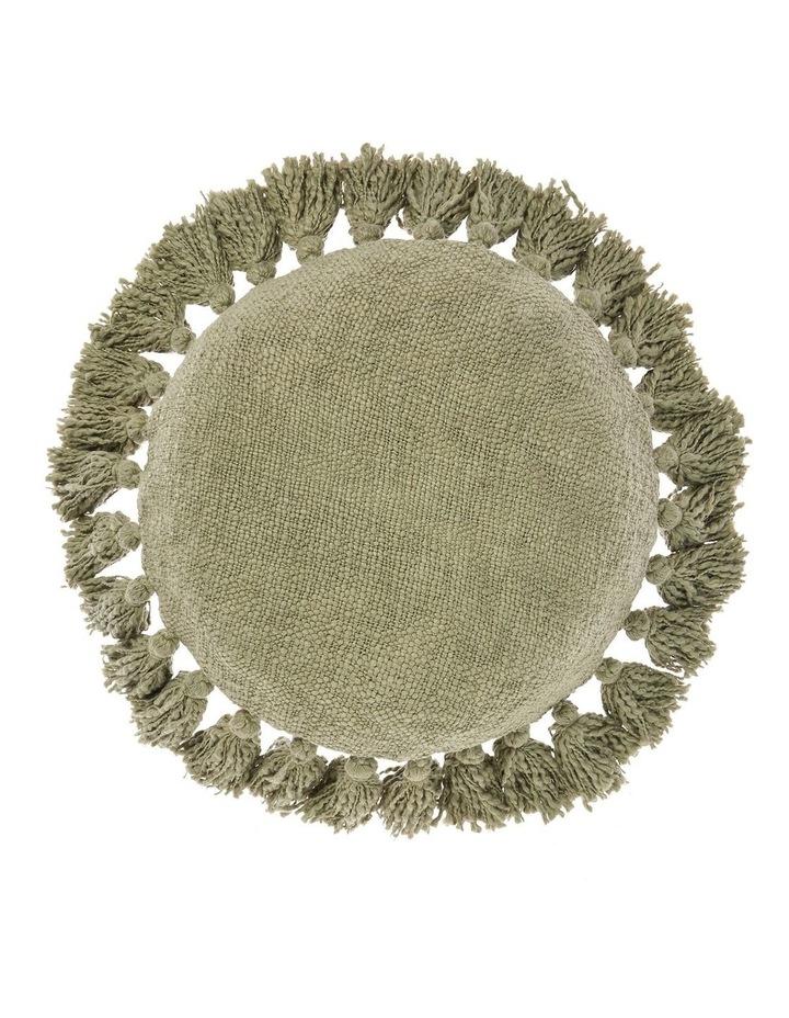 Florida Round Cushion in Green image 1