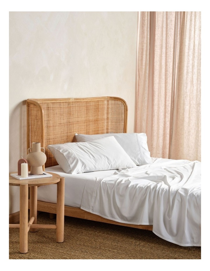 Nara Bamboo Cotton 400TC Sheet Set in White image 1