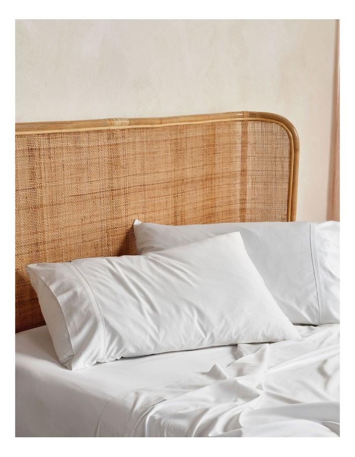 Nara Bamboo Cotton 400TC Sheet Set in White image 2