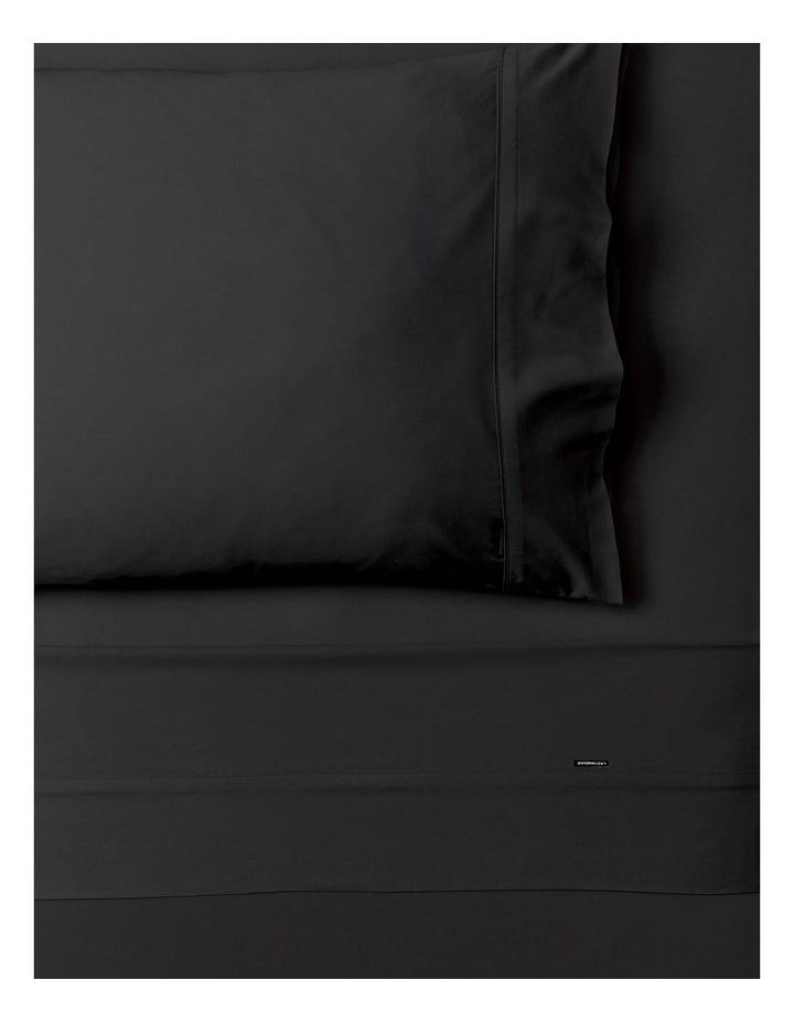 Nara Bamboo Cotton 400TC Sheet Set in Charcoal image 1