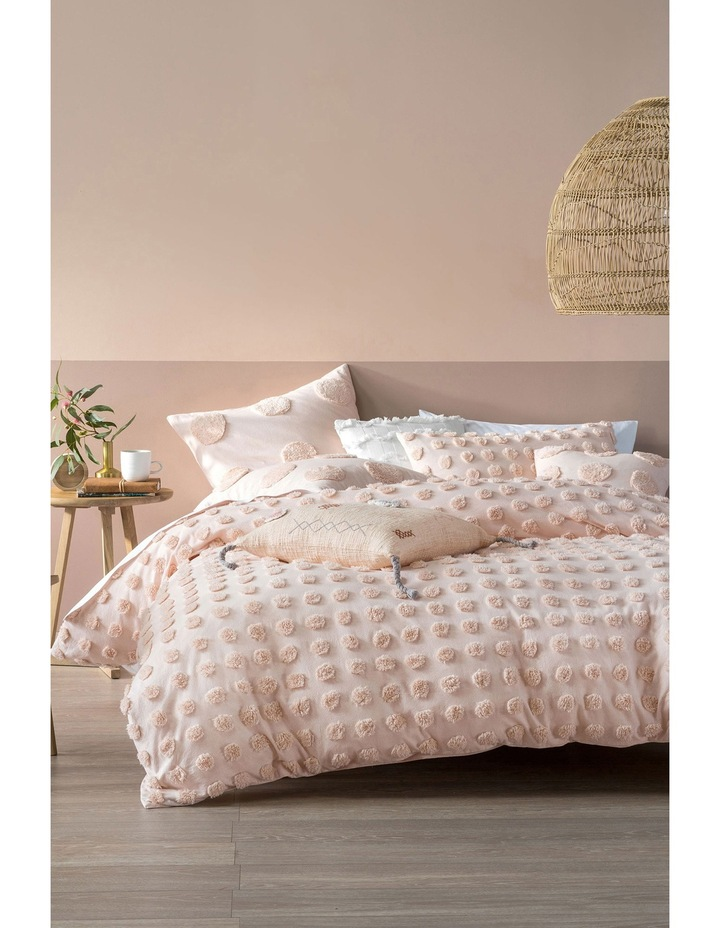 Haze Quilt Cover Set in Peach image 1