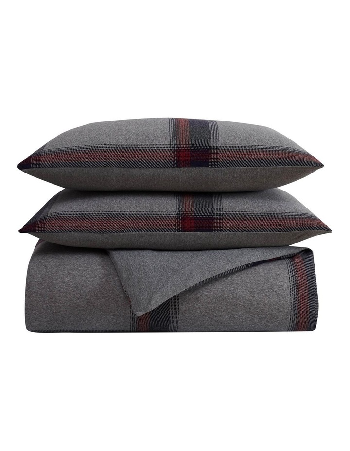 Heritage Tartan Quilt Cover Set in Grey image 2