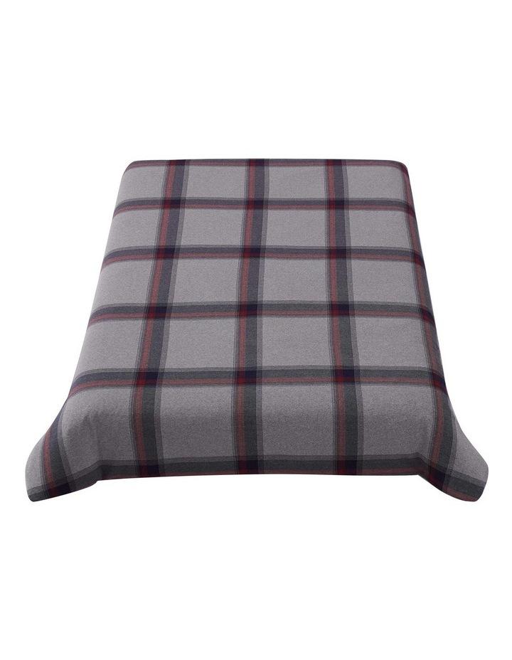 Heritage Tartan Quilt Cover Set in Grey image 3