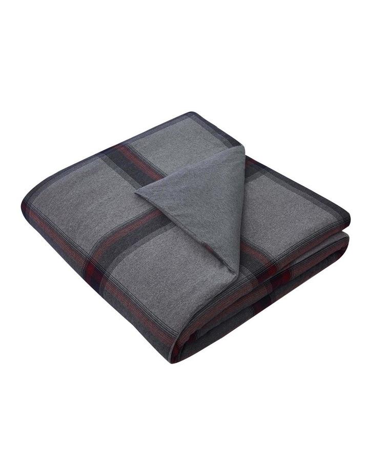 Heritage Tartan Quilt Cover Set in Grey image 4