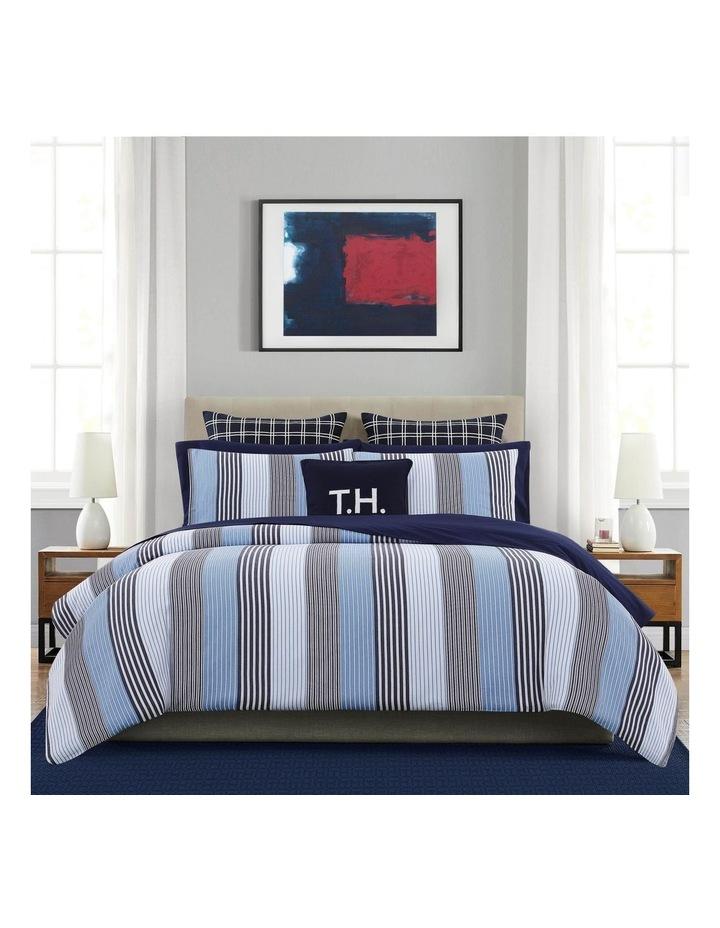 indigo Quilt Cover Set in Striped Blue image 1