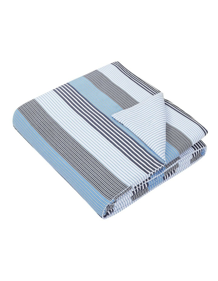 indigo Quilt Cover Set in Striped Blue image 2