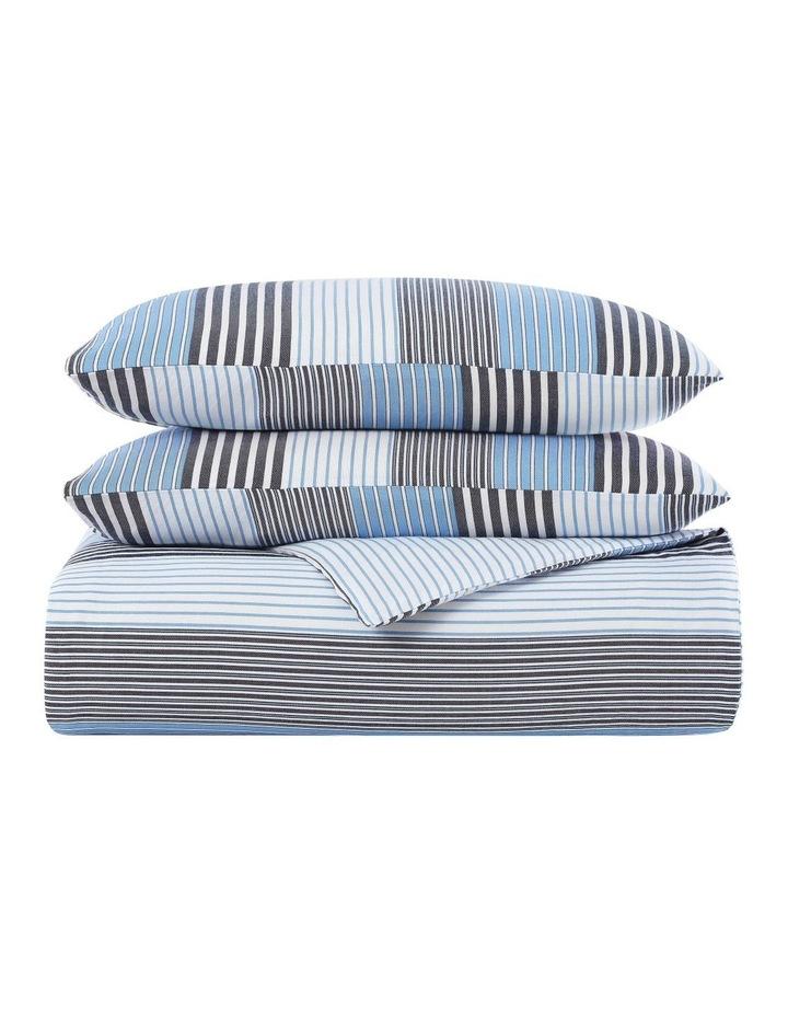 indigo Quilt Cover Set in Striped Blue image 4