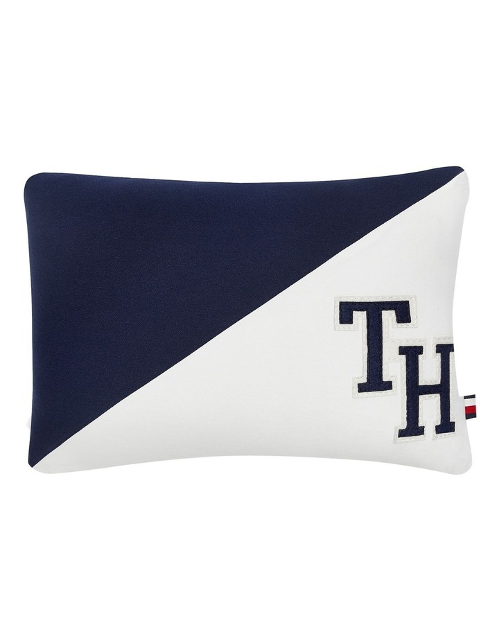 Triangle Cushion in Navy/White image 1