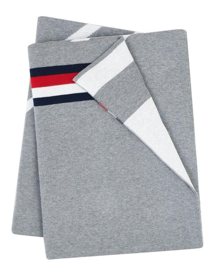 Diamond Monogram Knit Throw in Grey image 4