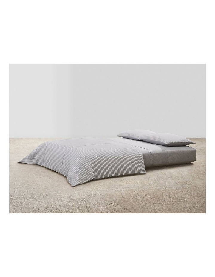 Modern Cotton Lennox Quilt Cover in Grey/Cream image 1
