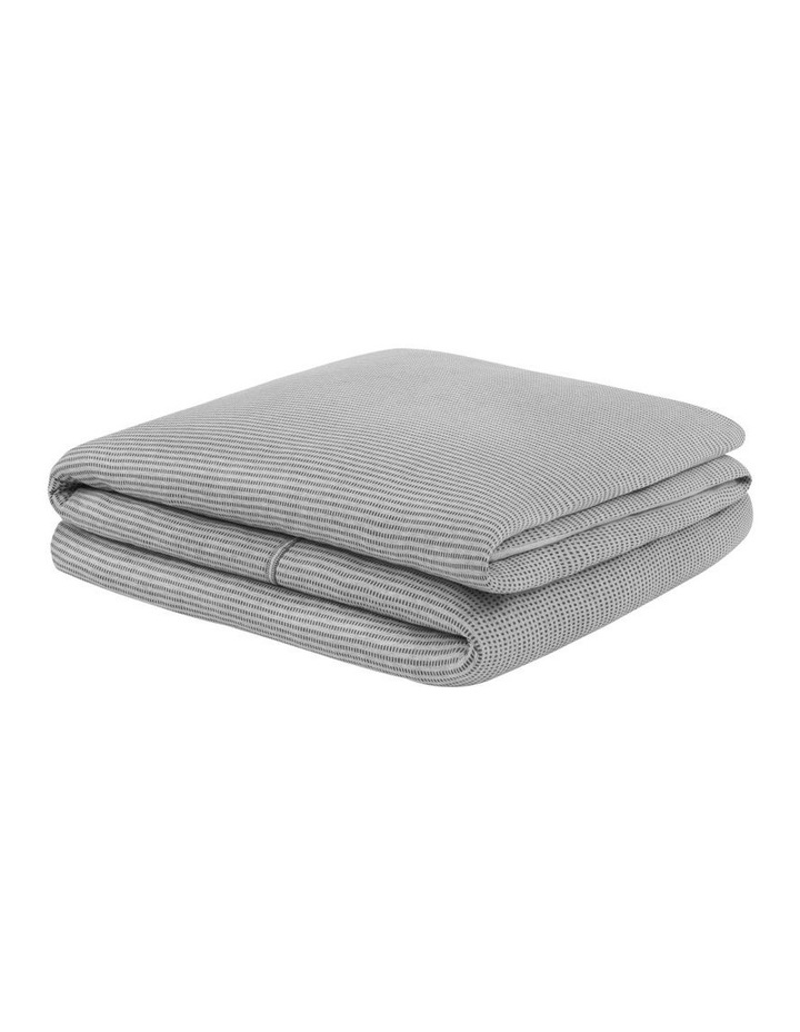Modern Cotton Jared Quilt Cover in Charcoal/Grey image 2
