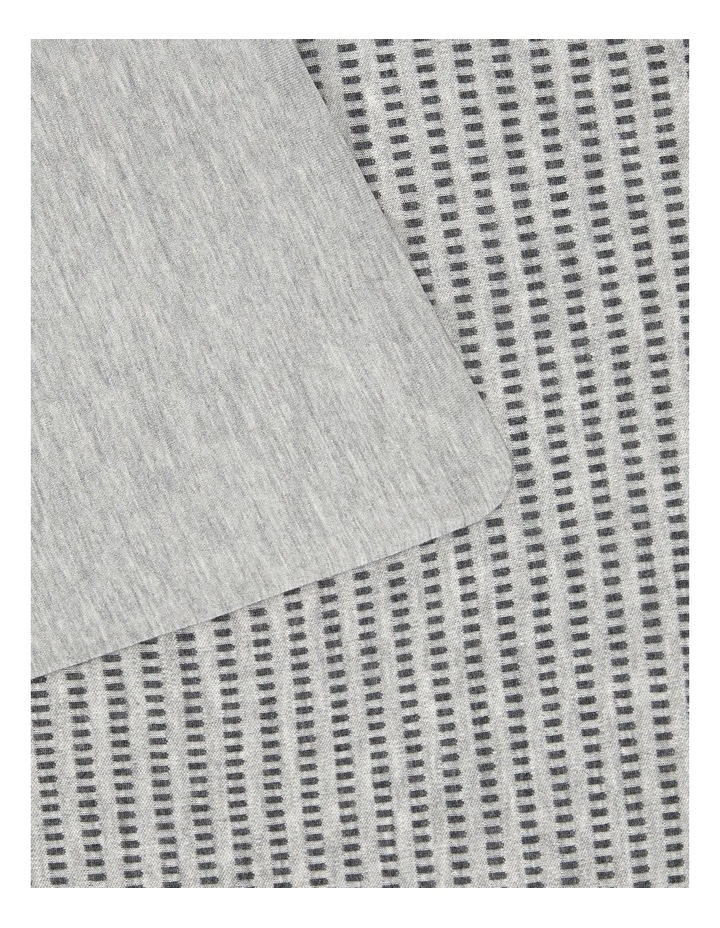 Modern Cotton Jared Quilt Cover in Charcoal/Grey image 3