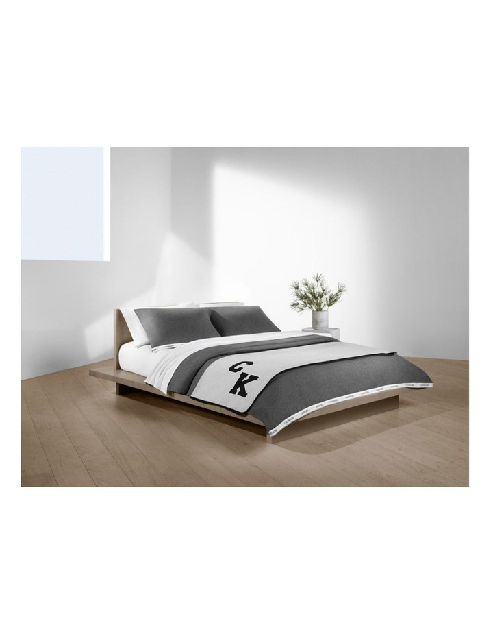 Modern Cotton Classic Logo Quilt Cover in Charcoal image 1