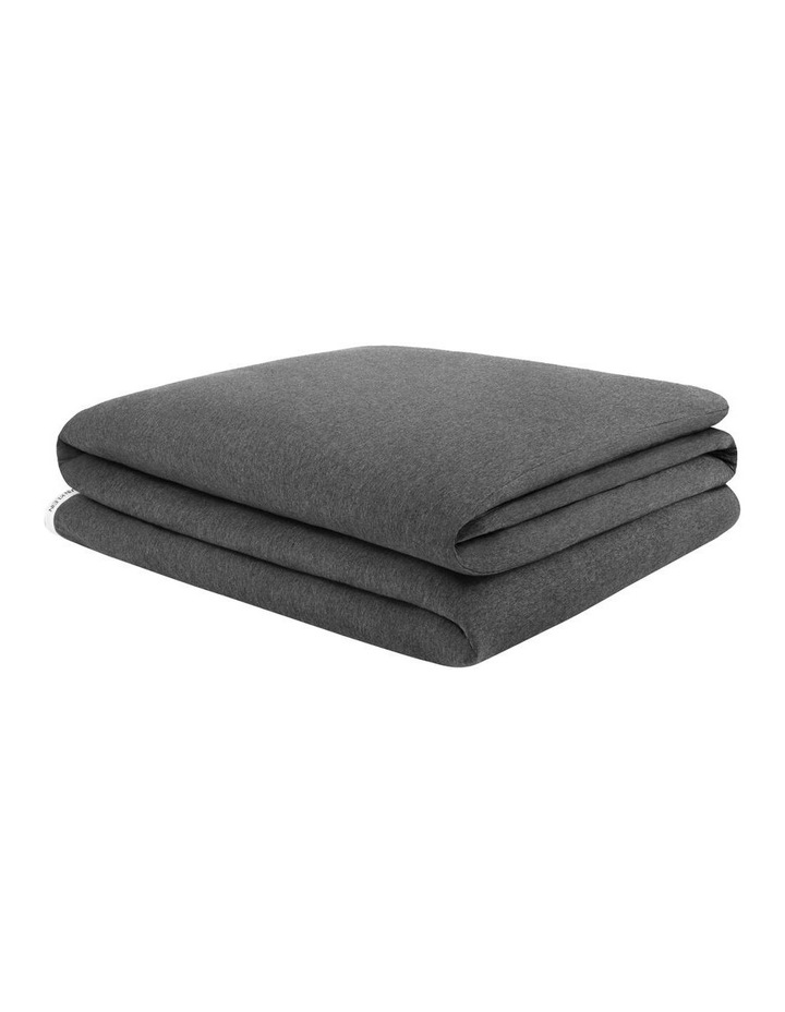 Modern Cotton Classic Logo Quilt Cover in Charcoal image 2